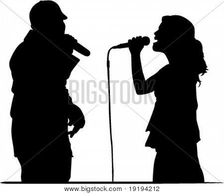 singers doing duet