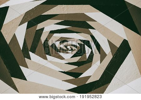 Art vintage geometric ornamental monochrome pattern in sepia, acrylic hand painted graffiti with texture. For modern design for all occasions
