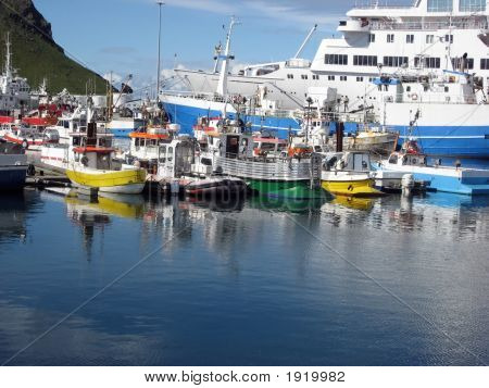 Fishing Boats In Heimaey