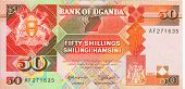 picture of shilling  - Old paper banknote money fifty Uganda shilling - JPG