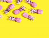 Pink Painted Pinapples poster