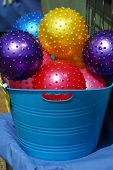 Toy Colored Balls Assorted In Bucket poster