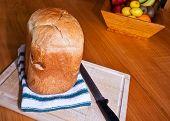 Fresh Home Baked White Bread