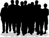 foto of person silhouette  - group of people - JPG