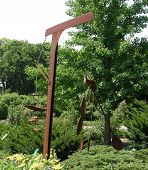 stock photo of windchime  - Taken at the Botanical Gardens in Milwaukee WI - JPG