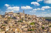Ancient Town Of Matera (sassi Di Matera) At Sunrise, Basilicata, Southern Italy poster