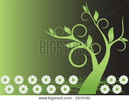 Floral Tree Background