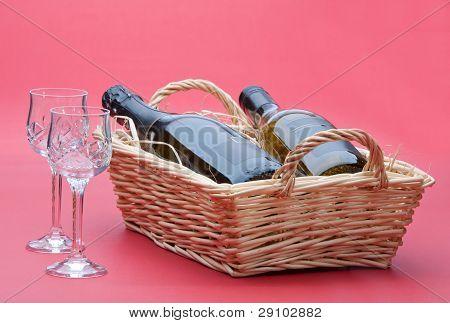 Wine In Basket