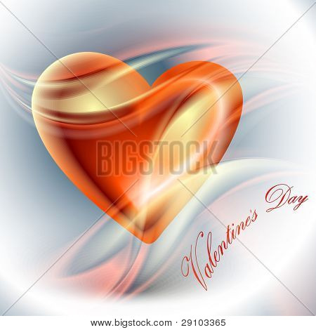 Valentine's day vector background (no mesh)
