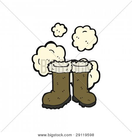 dusty old fur boots cartoon