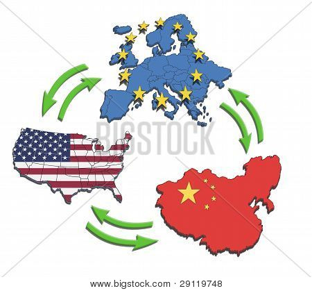 Usa, Europe And China Interatction.