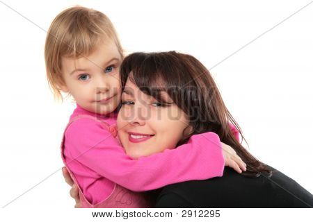 Daughter Embraces Mother