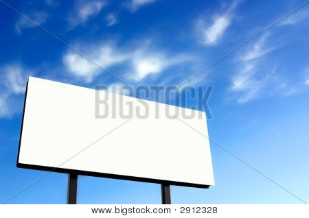 White Billboard With Wispy Sky - Sun On Left - Updated