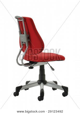 cutout red chair