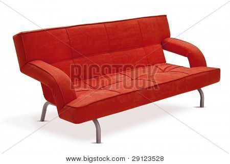 cutout red couch