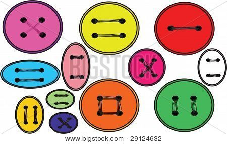 Many Varicoloured Buttons