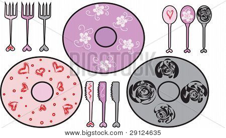 Piattis With Forks, Spoons And Knives