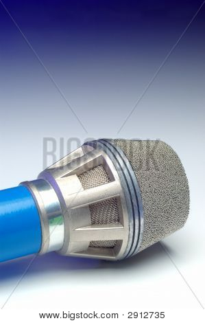 Stage Mic On Blue