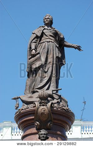 odessa. ukraine. a monument to the russian empress catherine II and potyomkin