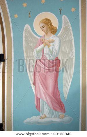 Fresco. Saint Michael's Golden-Domed Cathedral in Kiev, Ukraine