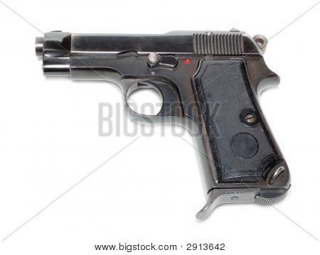 Gun Isolated Over A White Background