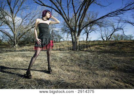 Punk Fashion Model