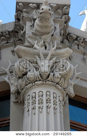 Famous chimera house. In present time is a guest house of ukrainian president. Kiev,Ukraine. Detail
