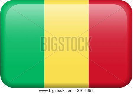 Mali Flag Button