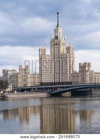 Classic Historical Soviet Ussr Skyscraper