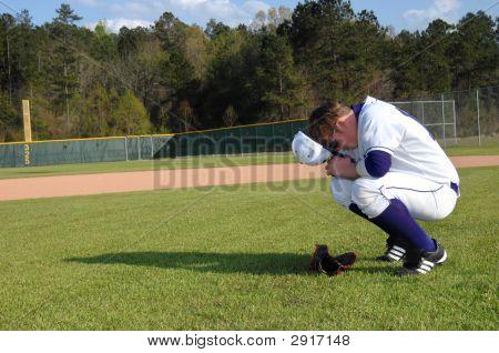 Bending His Knee In Prayer