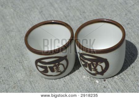 Two Saki Cups