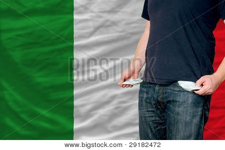 Recession Impact On Young Man And Society In Italy