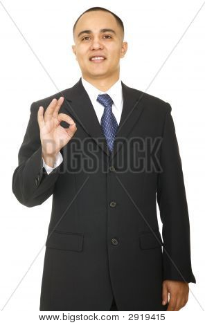 Business Man Showing Ok Sign 2
