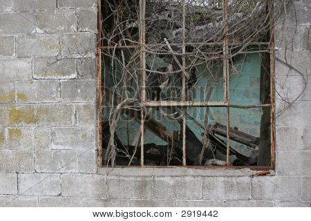 Decayed Cinder Block Building