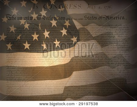 United States Declaration of Independence . Background for Clip-Art