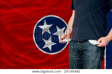 Recession Impact On Young Man And Society In American State Of South Tennessee