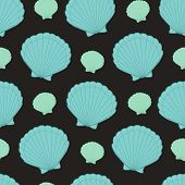 Cute Kids Shell Pattern For Girls And Boys. Colorful Shell On The Abstract Pattern Create A Fun Cart poster