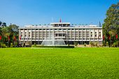 Independence Palace Or Reunification Palace Is A Main Public Landmark In Ho Chi Minh City In Vietnam poster