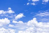 The Vast Blue Sky And Clouds Sky. Blue Sky Background With Tiny Clouds. Blue Sky Panorama. Blue Sky  poster