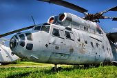HDR.The Russian military-transport helicopter Mi-6