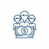 Annual Bonus Line Icon Concept. Annual Bonus Flat  Vector Symbol, Sign, Outline Illustration. poster