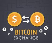 Dollar To Bit-coin Currency Exchange poster