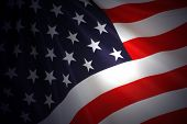stock photo of waving american flag  - American Flag as background for Clip - JPG