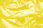 Yellow Polyethylene Texture. Background Exhaust Cellophane Package. poster