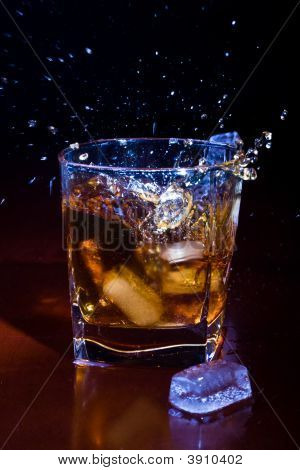Glass Of Iced Whisky