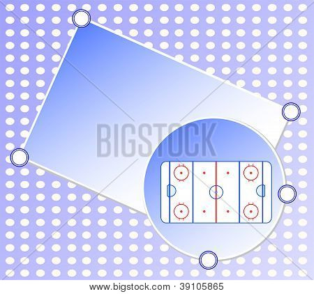 Ice Hockey Field On Blue Greetings Card - Sports Background