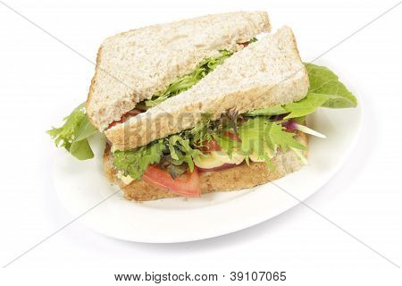 Brown Bread Sandwich On Plate