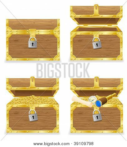 Antique Chest Vector Illustration