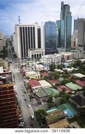 Makati Avenue Manila Cityscpe Filipinas