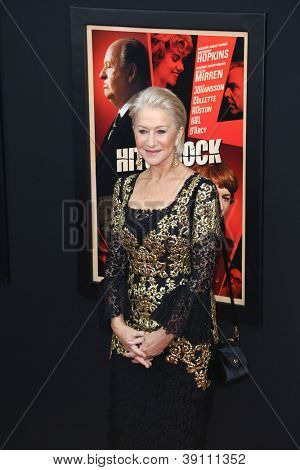 NEW YORK-NOV 18: Actress Helen Mirren attends the premiere of